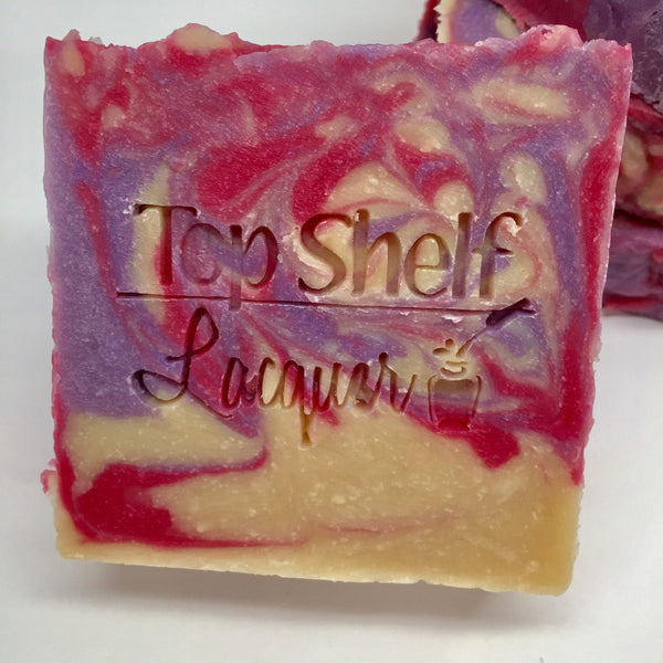 Black Raspberry Vanilla Greek Yogurt Handmade BEER Soap (1 Bar) - Top Shelf Lacquer - 1