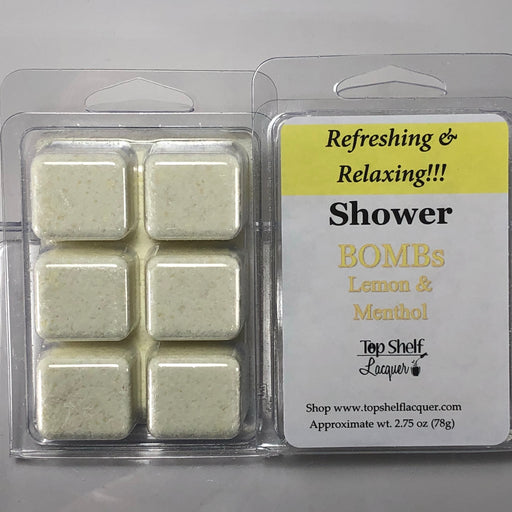Lemon Menthol Shower Bombs (Break Aparts)
