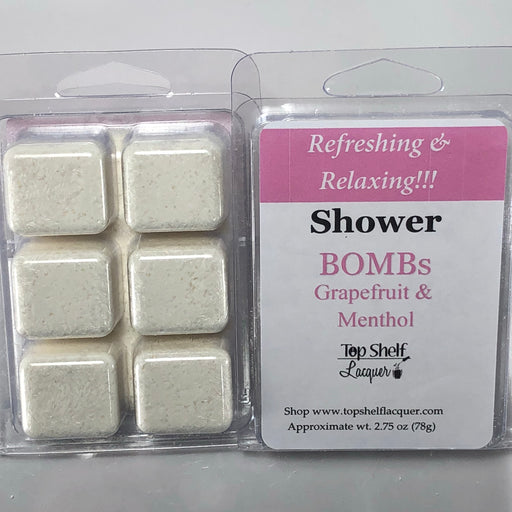 Grapefruit Menthol Shower Bombs (Break Aparts)
