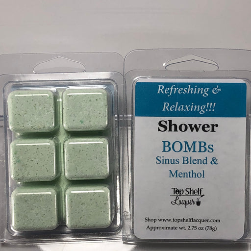 Mentholated Sinus Blend Shower Bombs (Break Aparts)