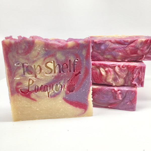 Black Raspberry Vanilla Greek Yogurt Handmade BEER Soap (1 Bar) - Top Shelf Lacquer - 2