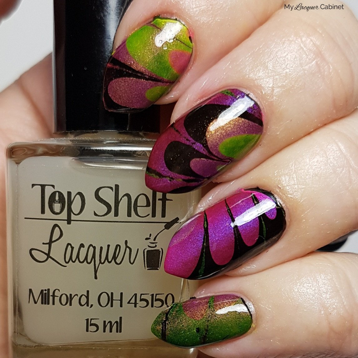 Bar Mix Clear Watermarble 1 Bottle Top Shelf Lacquer