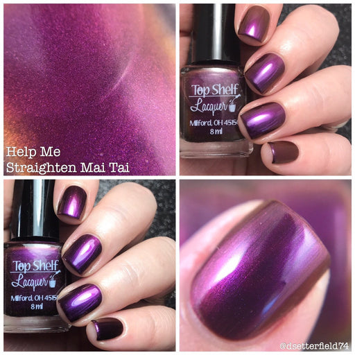 Nail Polish - Help Me Straighten Mai Tai, April 2017 (1 Bottle)
