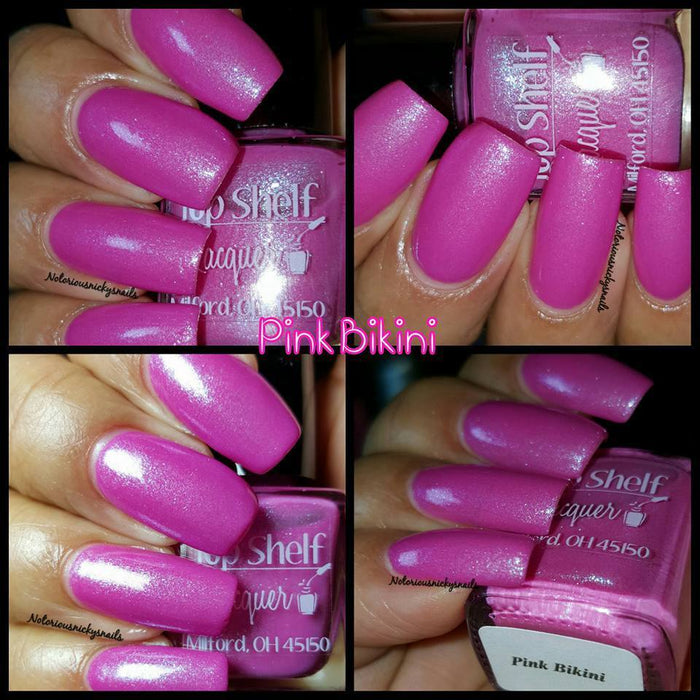 Pink Bikini, February 2016 (1 bottle) - Top Shelf Lacquer - 6