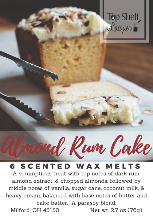 Wax Melts - Almond Rum Cake Scented Wax Melts