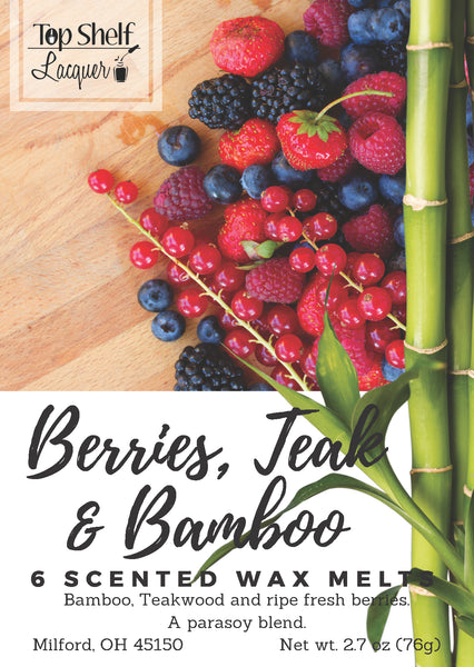 Wax Melts - Berries Teak & Bamboo Scented Wax Melts
