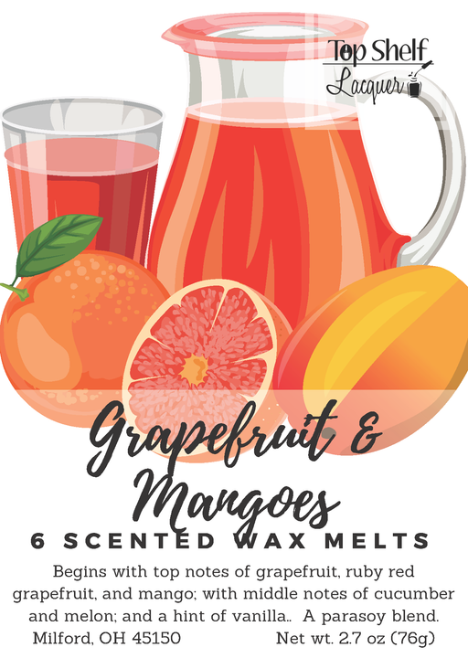 Wax Melts - Grapefruit & Mangoes Scented Wax Melts