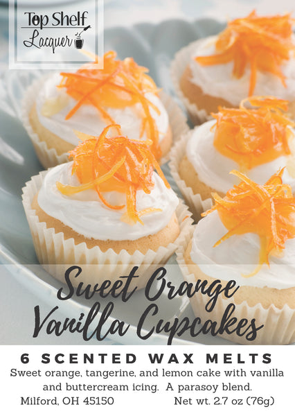 Wax Melts - Sweet Orange Vanilla Cupcakes Scented Wax Melts