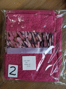 Hand Towel & Washer Set - Pink