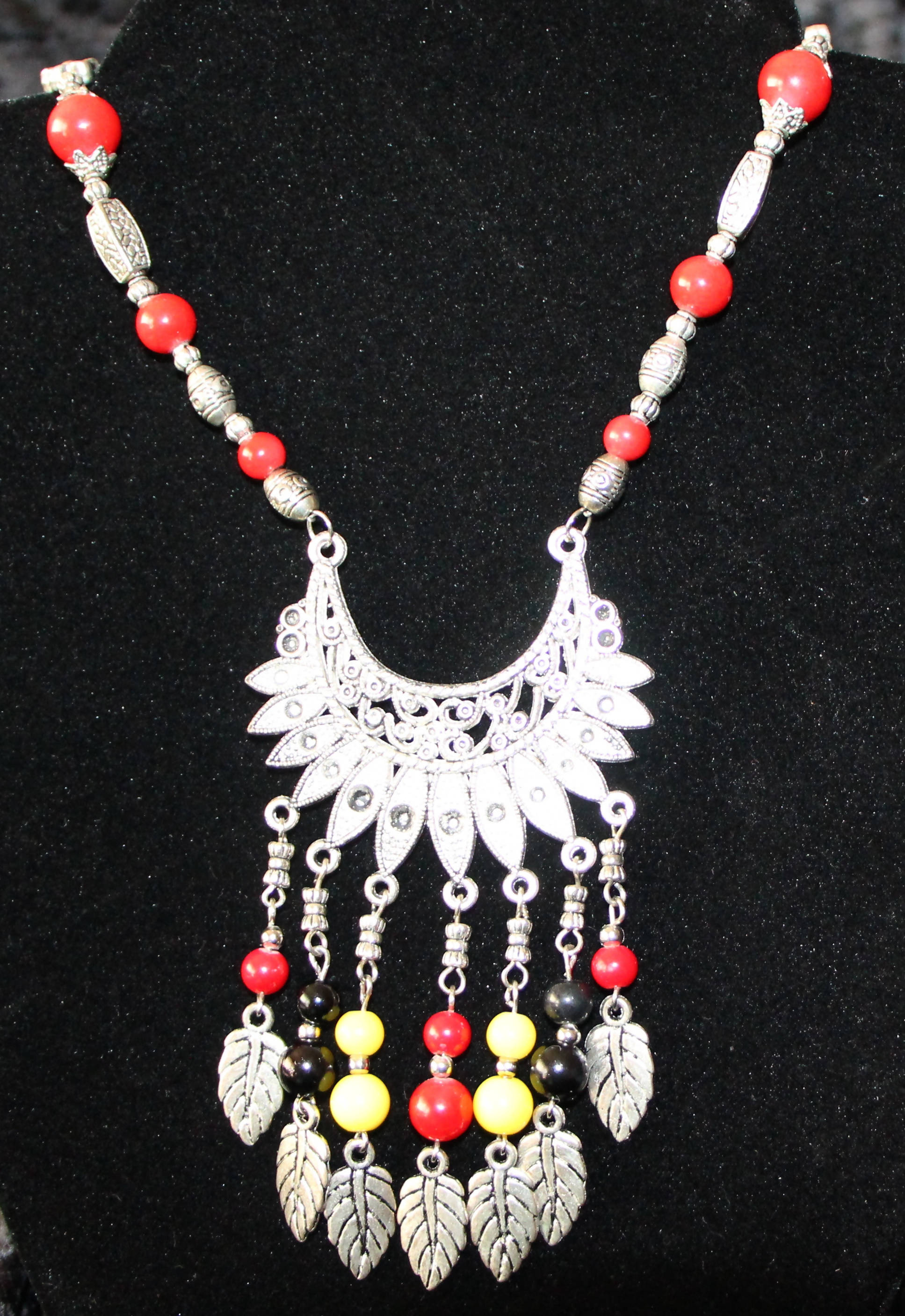 Tibetan Silver fan necklace