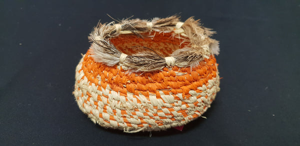 Tjanpi Weavers Feather basket