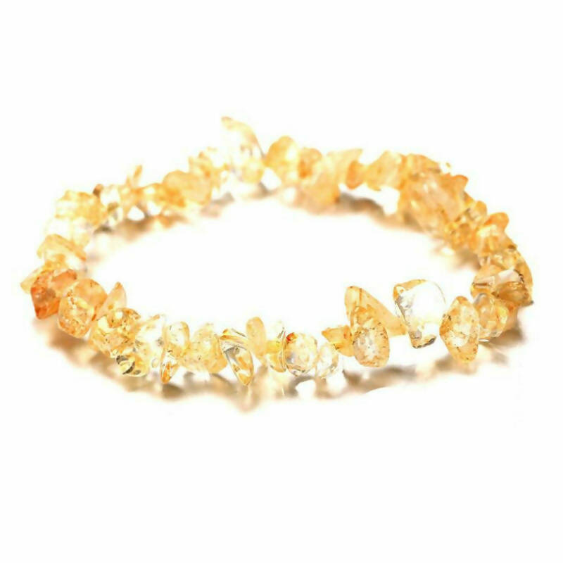 Citrine crystal stretch bracelet