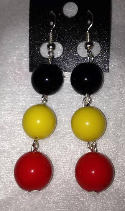 8mm ball earrings