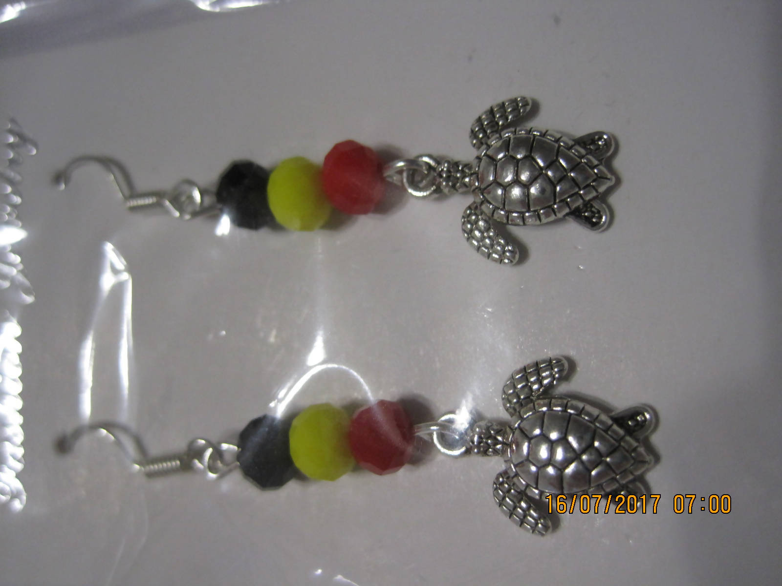 Turtle totum earrings