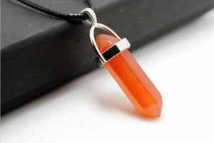 Orange aventurine Crstal Drop necklace