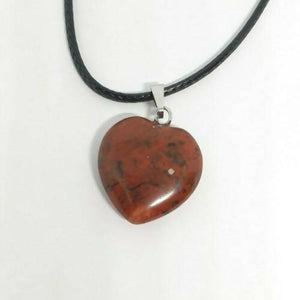 Red Jasper Heart crystal necklace