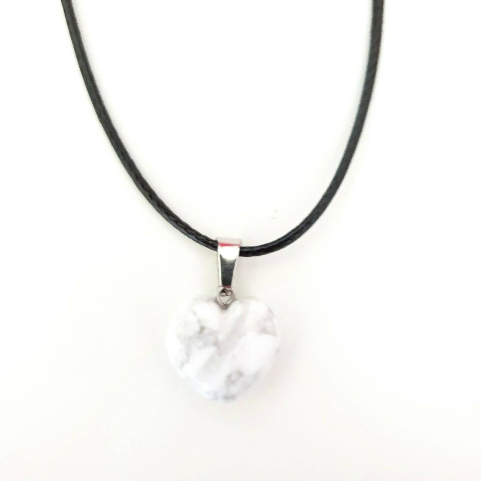Marble Heart crystal necklace