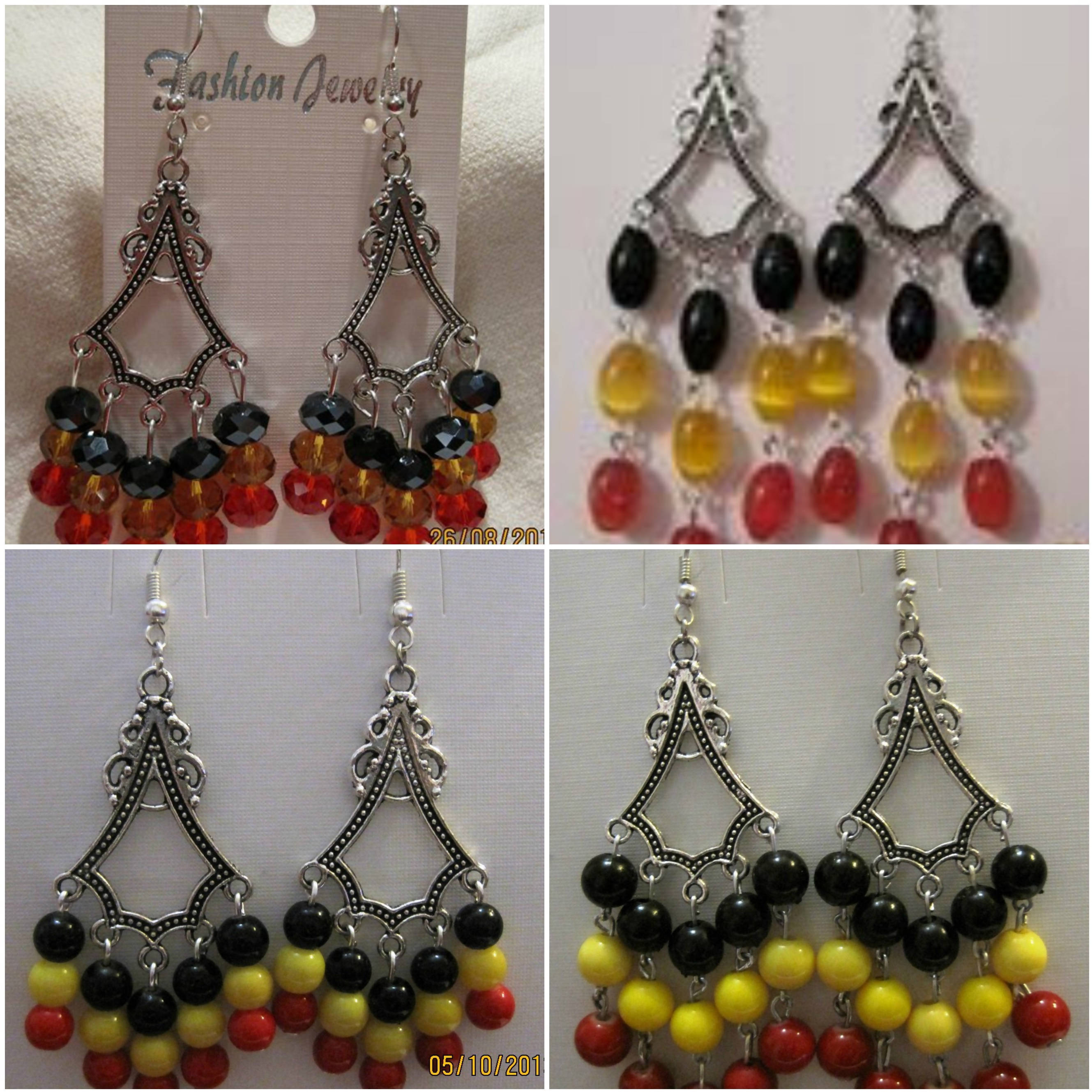 Tibetan drop earrings (large)
