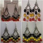 Load image into Gallery viewer, Tibetan drop earrings (large)