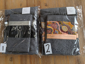 Hand Towel & Washer Set - Grey