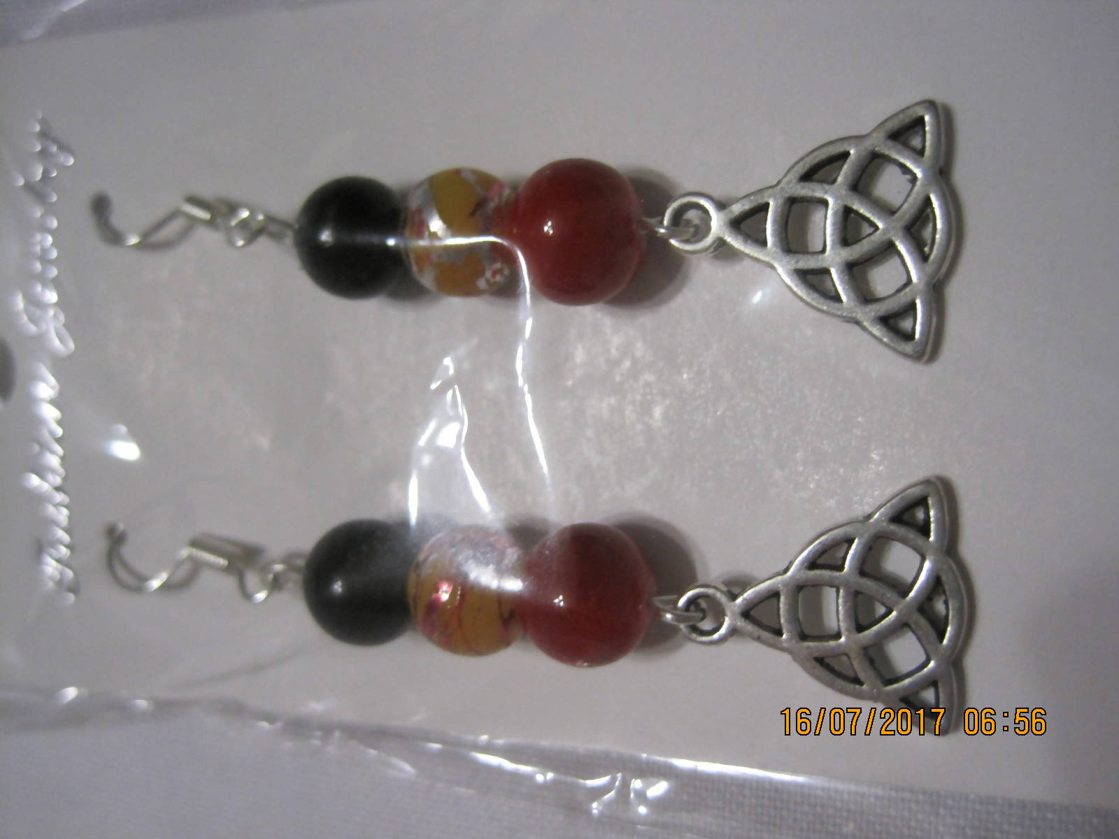 Celtic Trinity Knot charm earrings