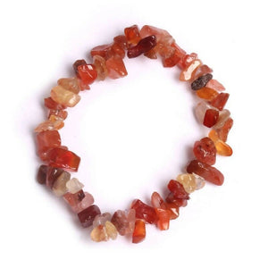 Red aventurine crystal stretch bracelet