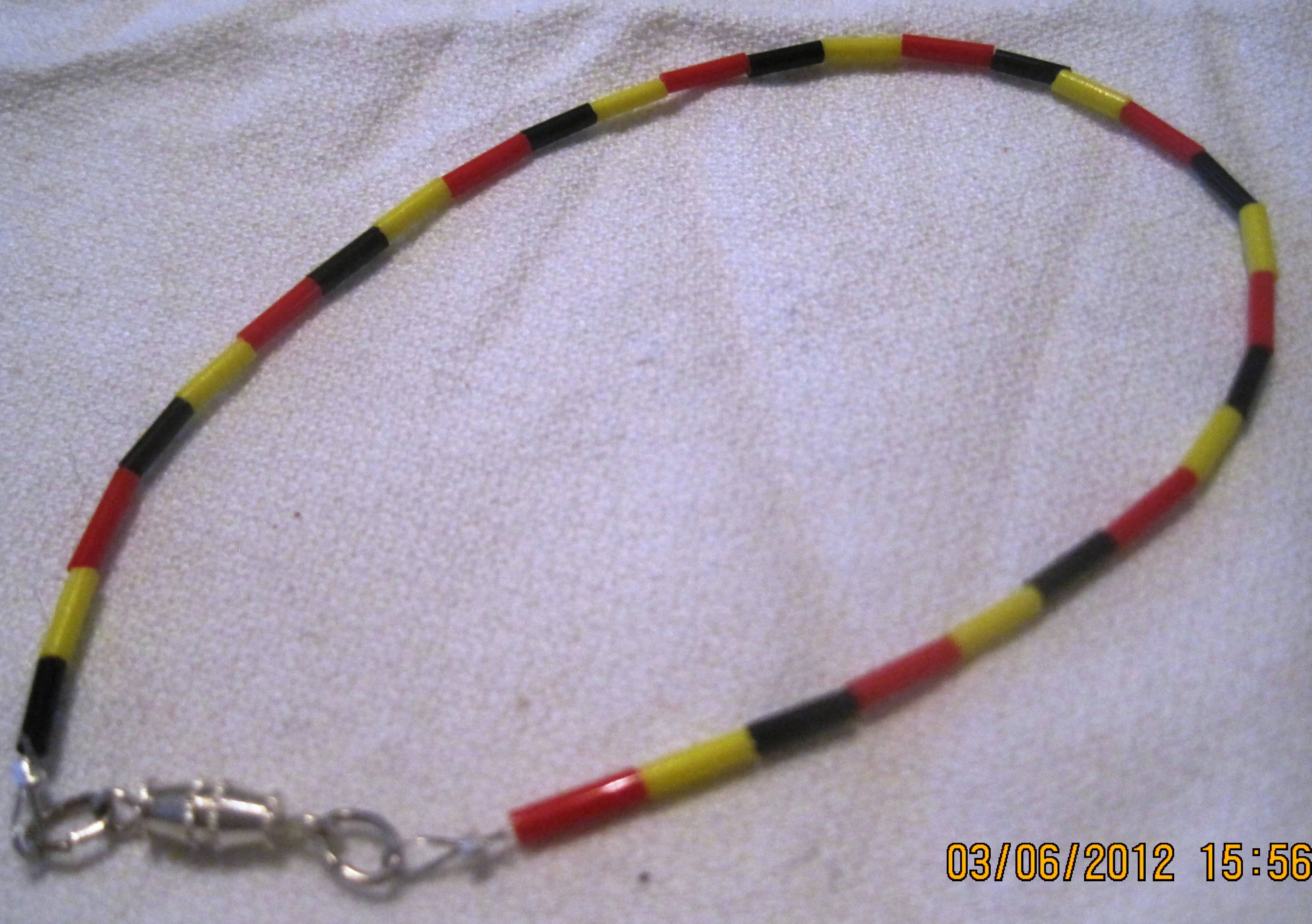 Anklet spaghetti small acrylic beads