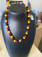 Load image into Gallery viewer, Acrylic Faceted Necklace 10mm beads (short)