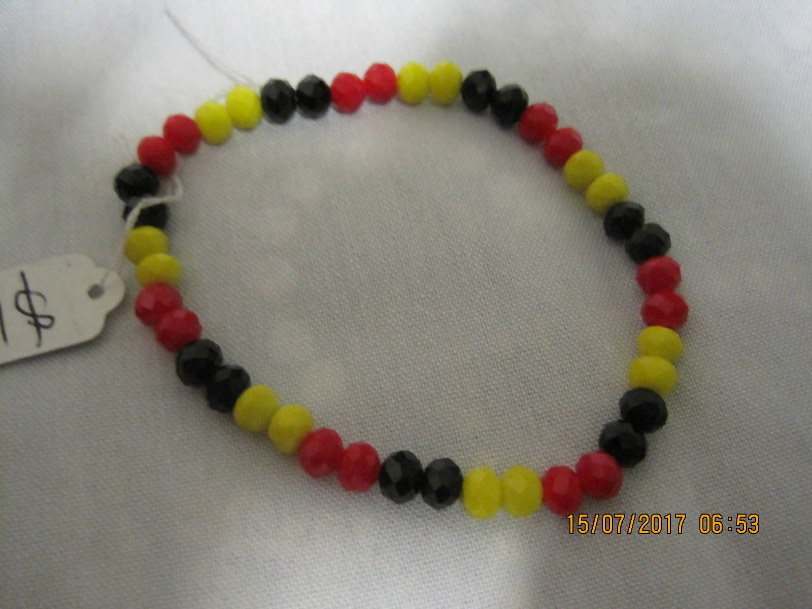 Acrylic Faceted Bracelet 6mm beads