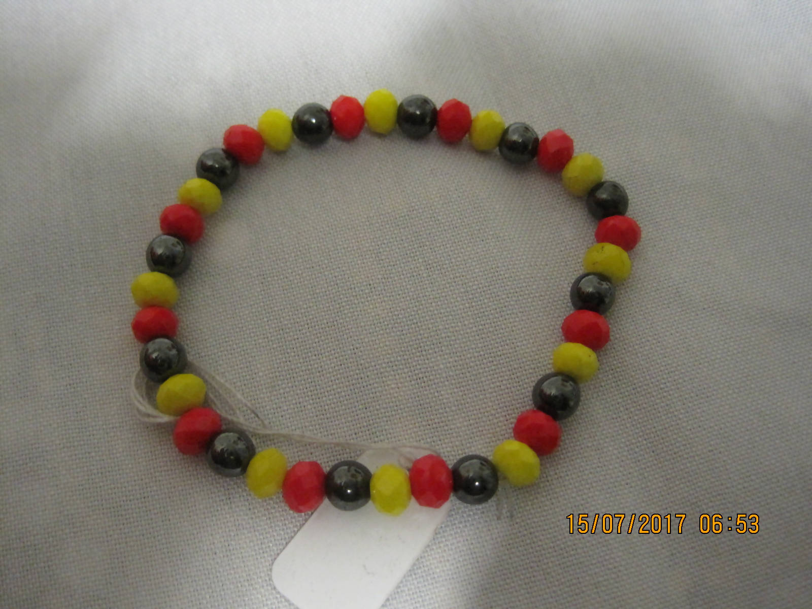 Magnetic Faceted Bracelet 6mm beads