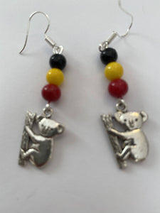 Koala totum earrings