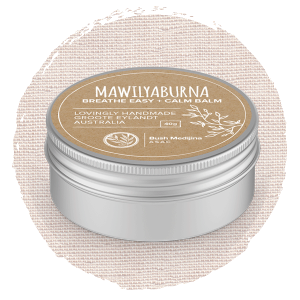 Breathe Easy & Calm Balm – Mawilyaburna with Olive Oil base