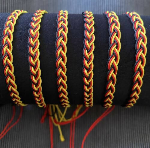 Platted Cotton Wristband 6 strand