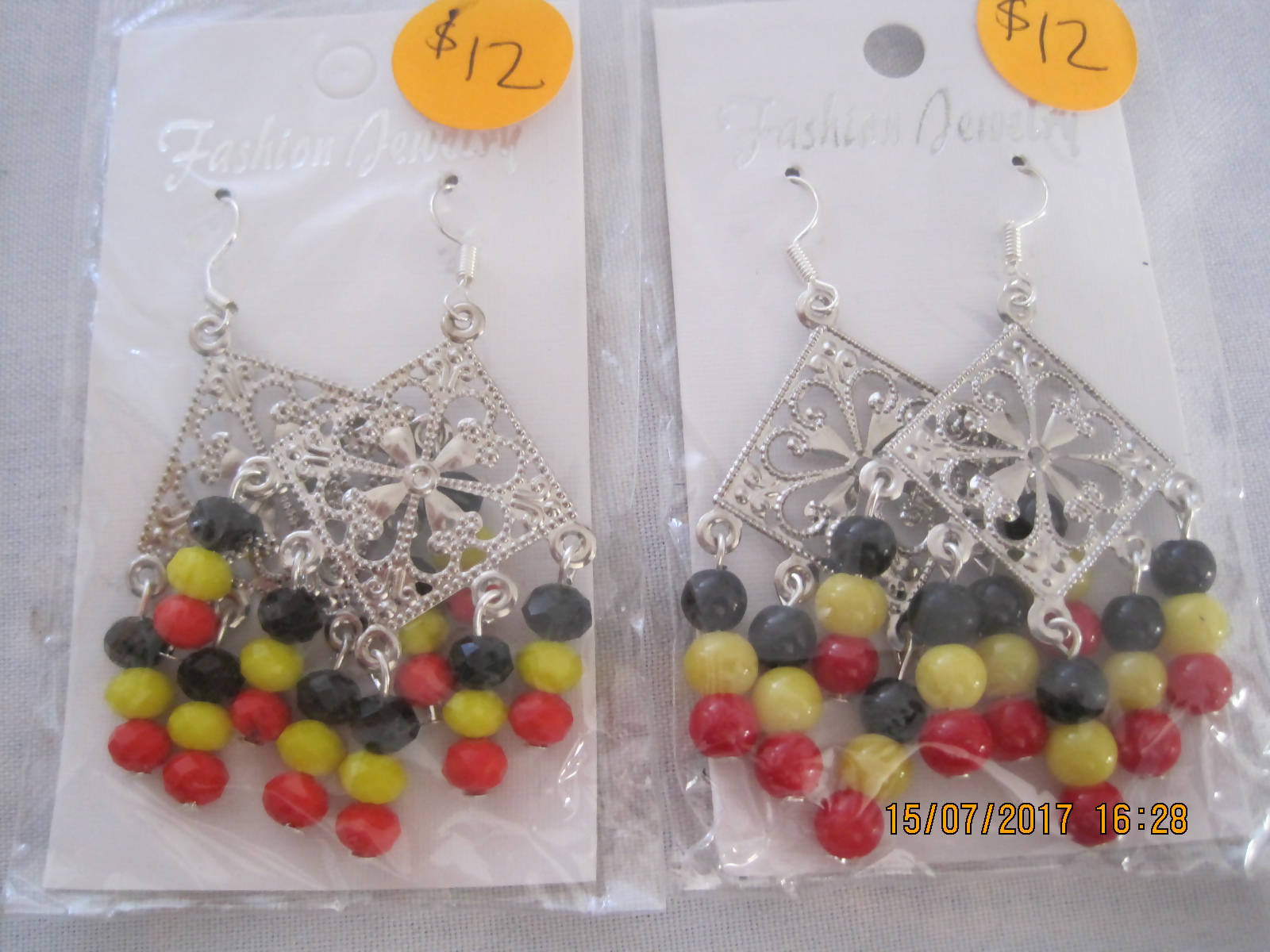 Tibetan triangle earrings
