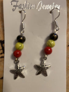 Star Fish charm earrings