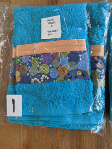Hand Towel & Washer Set - Blue