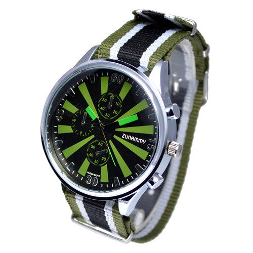 Men's Nylon Strap Chornograph Style Watch