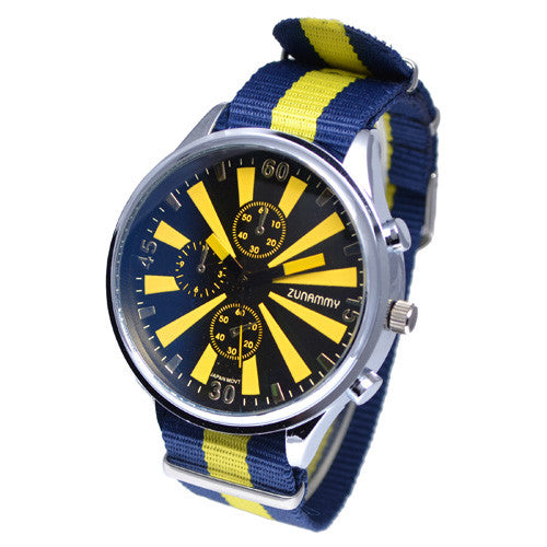 Nylon Chronograph Style Watch for Men