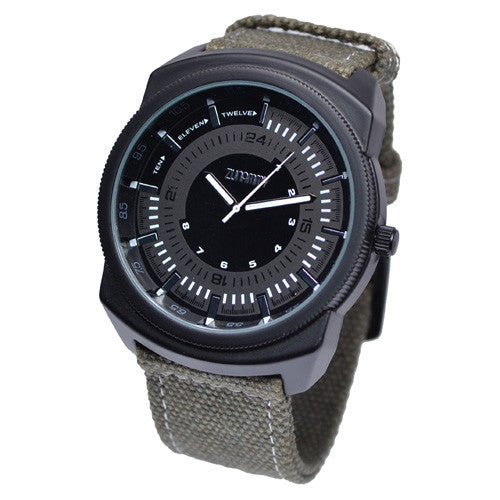 Army Green Black Face Watch for Men
