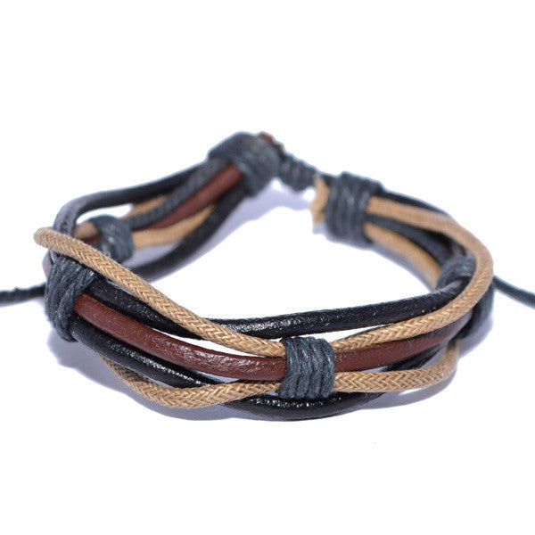mens bracelets leather usa