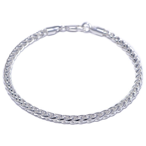 4mm Chrome Plated Franco Bracelet for Men