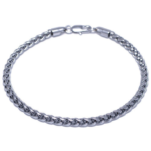 Men's 4mm Silver Plated Franco Bracelet