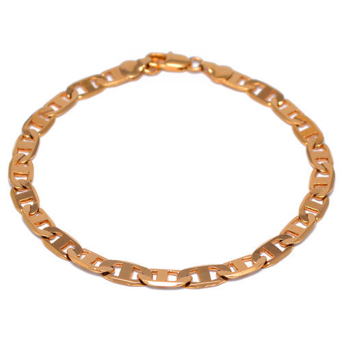 4mm Gold Plated Marina Link Bracelet for Men