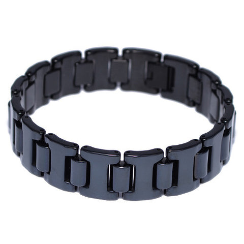 Black Tungsten Carbide Men's Bracelet