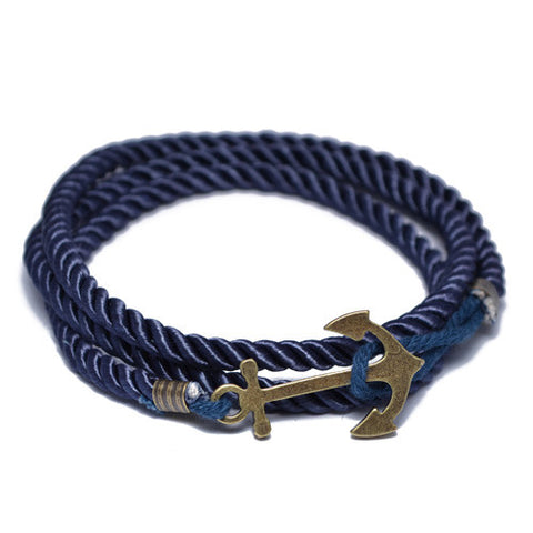 bracelets men wrap nautical bracelet hot anchor rope women charm new item black punk s survival