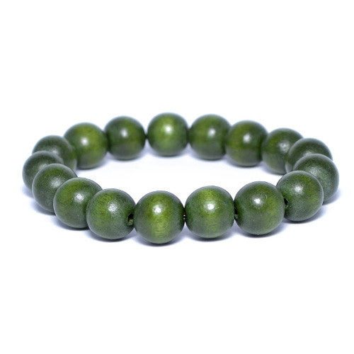 Men's Dark Forrest Wooden Bead Bracelet