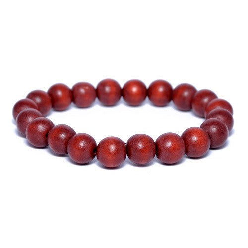 Rust Brown Wooden Bead Bracelet