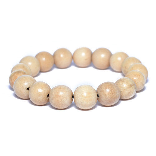 Men's Natural Brown Wooden Bead Bracelet