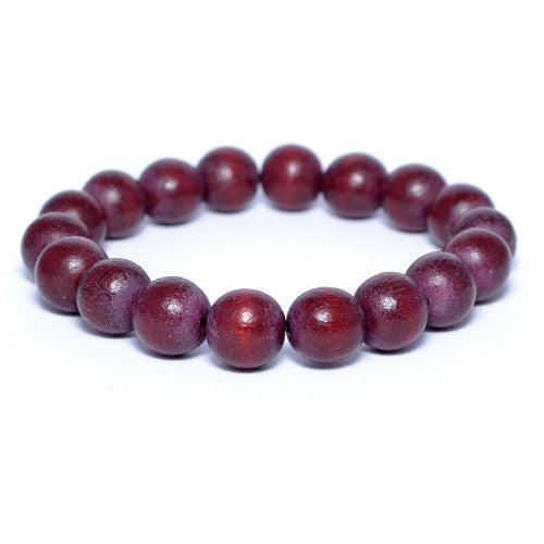 Men's Dark Brown Wooden Bead Bracelet