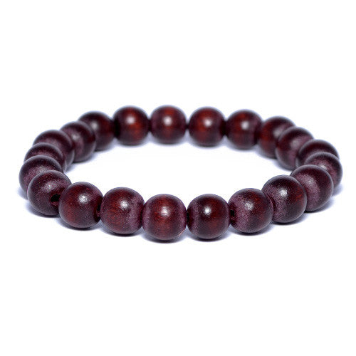 Chocolate Brown Wooden Bead Bracelet